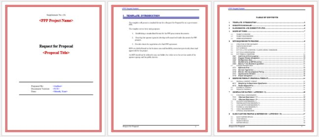 Simple Rfp Template Word. 7 request for proposal template word ...