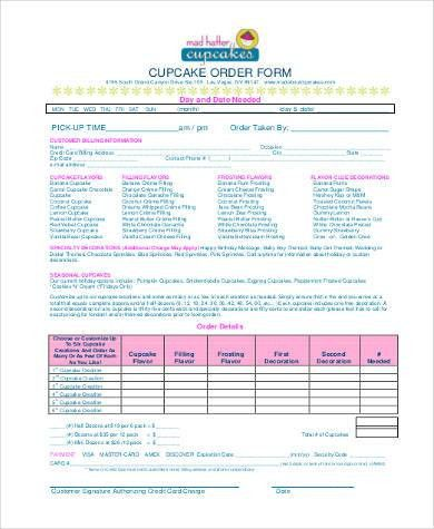 Sample Cake Order Form Template. Fundraiser Order Form The 25+ ...