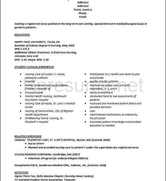 new nurse graduate nursing resume this will hopefully be useful in ...
