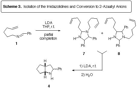Observations of imidazolidine intermediates