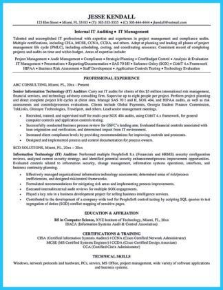 resume sample for audit staff. create my resume. internal auditor ...