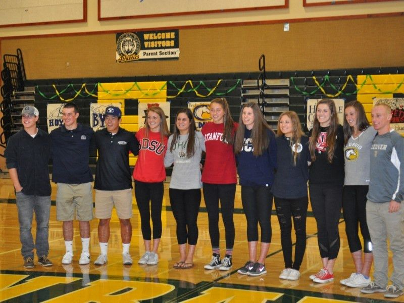 San Ramon Valley High School National Letter of Intent Signing Day ...