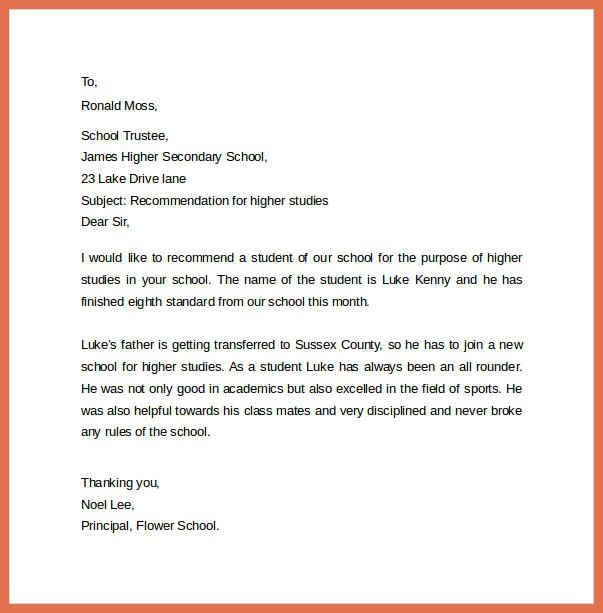 example recommendation letter | bio example