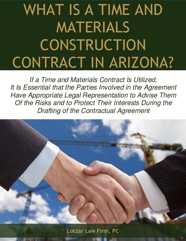 What is a Time and Materials Construction Contract in Arizona?