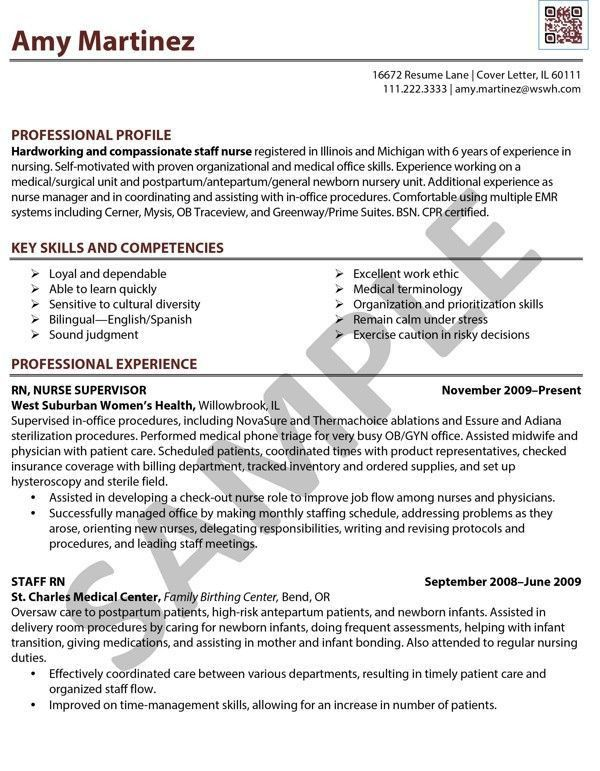 nursing rn resume sample professional experience. registered nurse ...