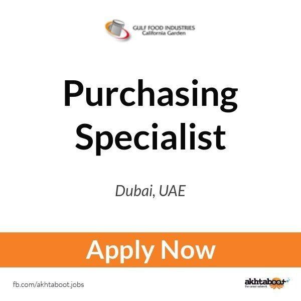 Purchasing Specialist job at Gulf Food Industries - California ...