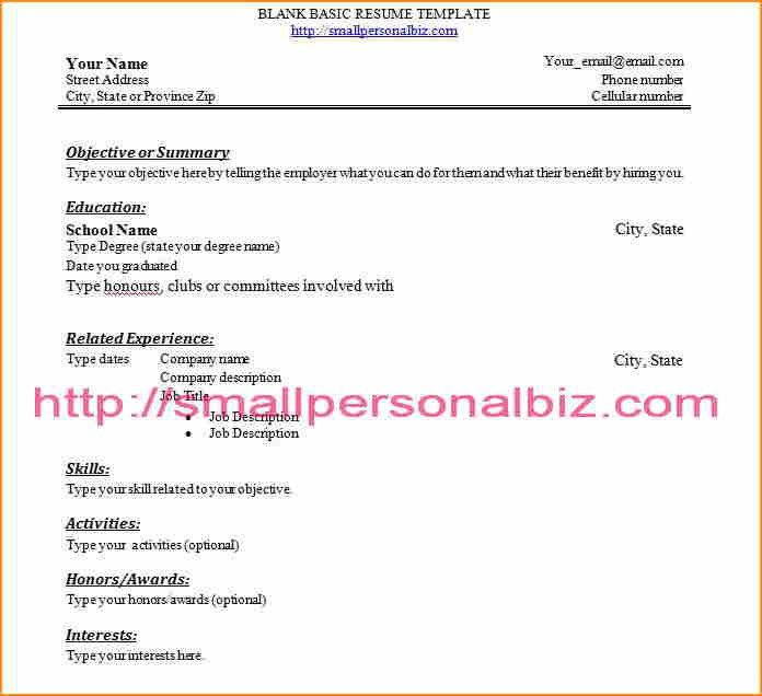 4+ student resume examples high school no experience - Basic Job ...
