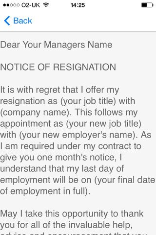 Resignation Letter - Android Apps on Google Play