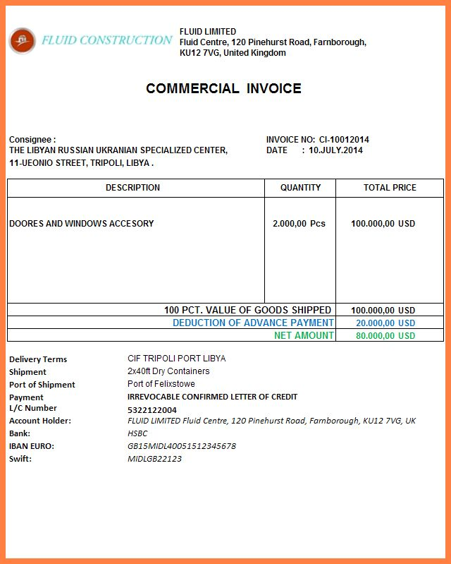 9+ advance payment invoice format | Invoice Template