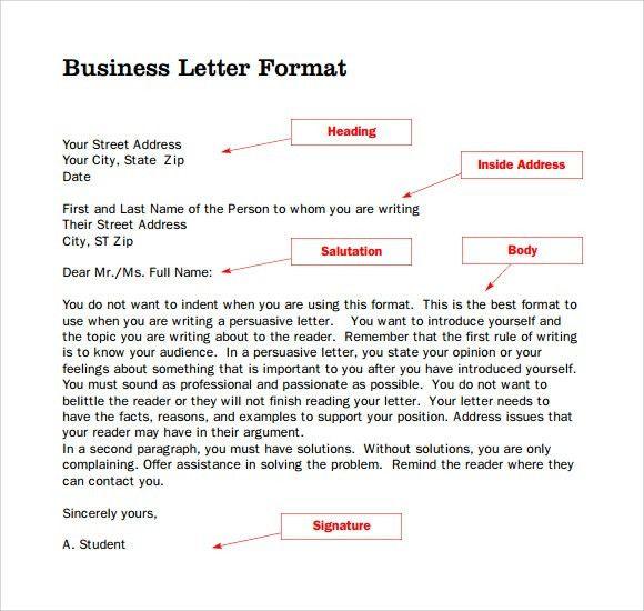 Business Letter Format Without Letterhead - Compudocs.us