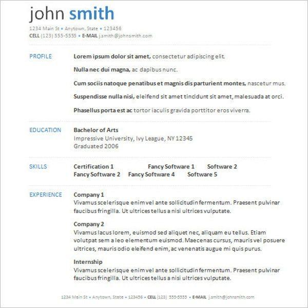 Microsoft Word Resume Templates || Free & Premium | Creative Template