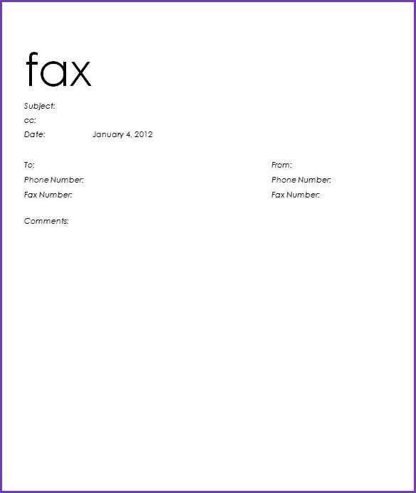 SAMPLE FAX COVER SHEET | Jobproposalideas.com