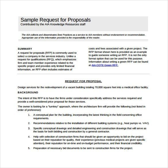 Sample RFP Template - 8+ Free Documents in PDF, Word