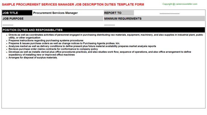 Procurement Liaison Job Descriptions