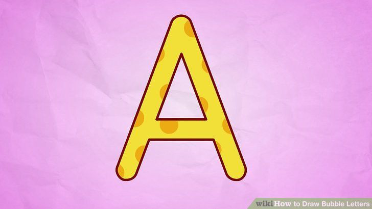 How to Draw Bubble Letters (with Sample Letters) - wikiHow