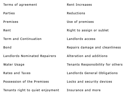 Residential Tenancy Lease NSW New South Wales