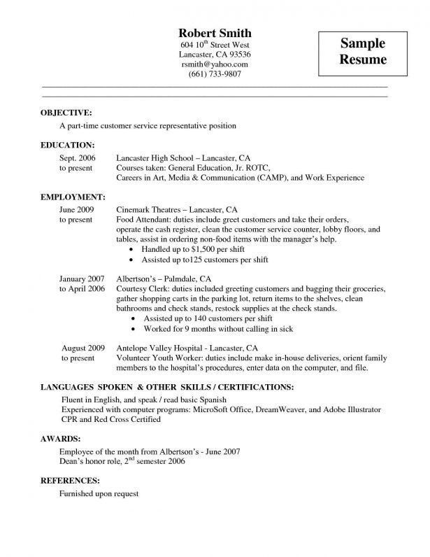 Resume : Customer Service Samples Job Reference Contact ...