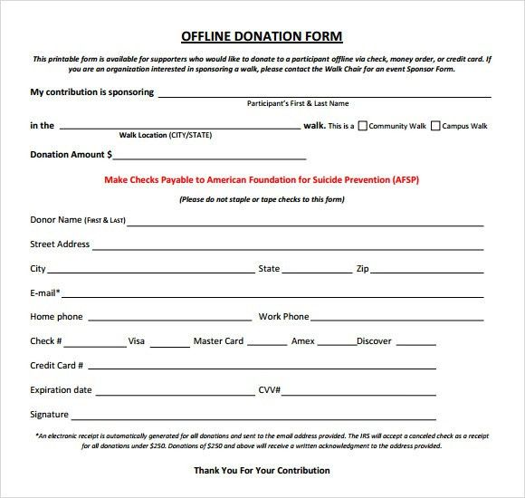 Sample Donation Sheet - 5+ Documents in Word, PDF