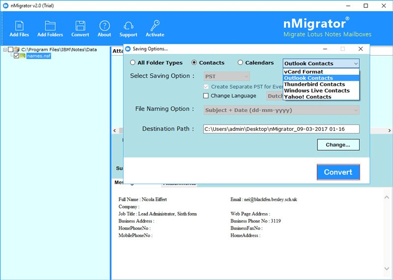 Lotus Notes to Outlook Converter to Migrate NSF to PST Format