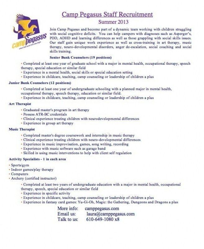 Camp Counselor Resume | | ingyenoltoztetosjatekok.com