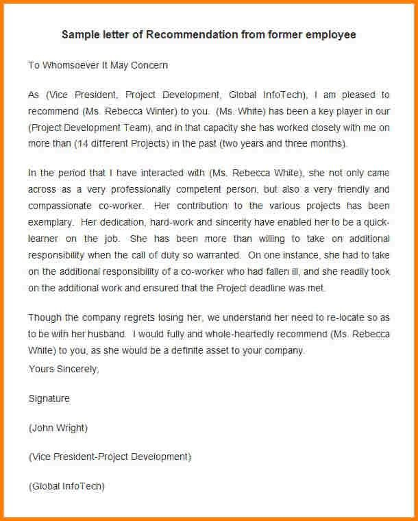 10+ simple recommendation letter for employment | quote templates