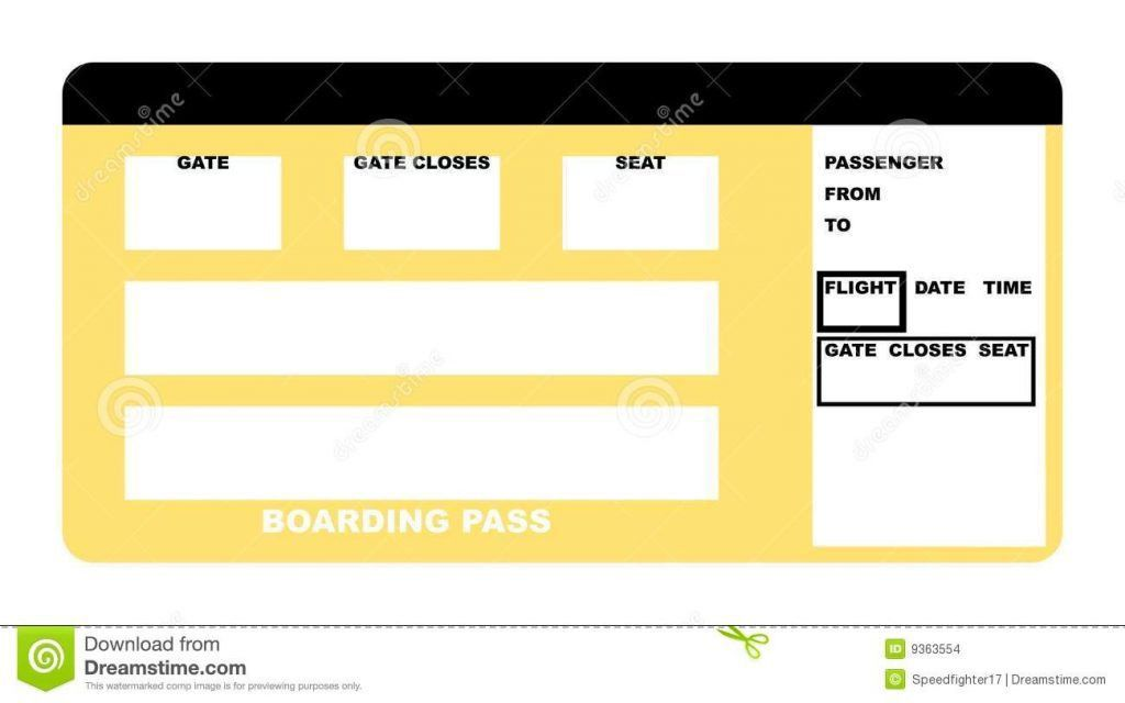 Blank Airline Boarding Pass Ticket Stock Photos Images Images : Masir