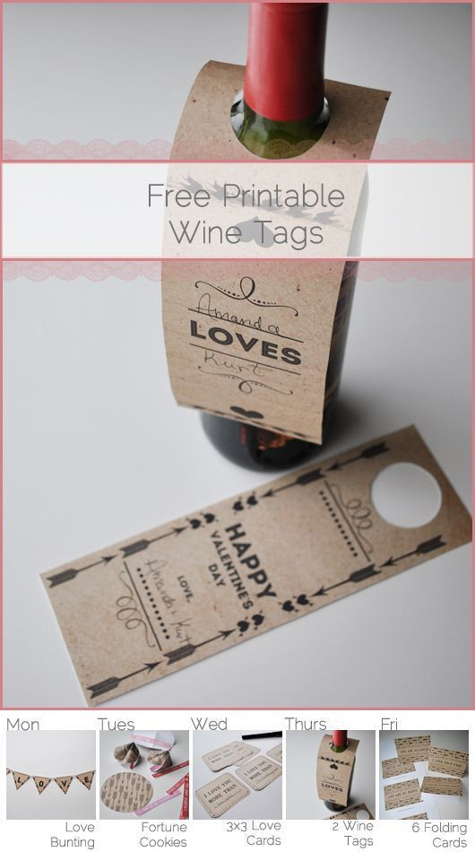 Best 25+ Wine bottle tags ideas only on Pinterest | Wine tags ...
