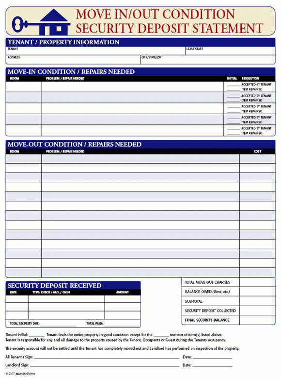 Periodic Inspection Checklist for Rental Units | EZ Landlord Forms ...