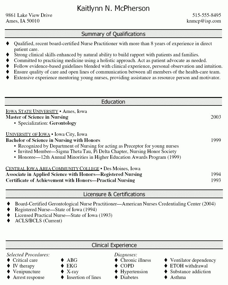 Nurse Practitioner Resume - Nurse Practitioner Resume Sample