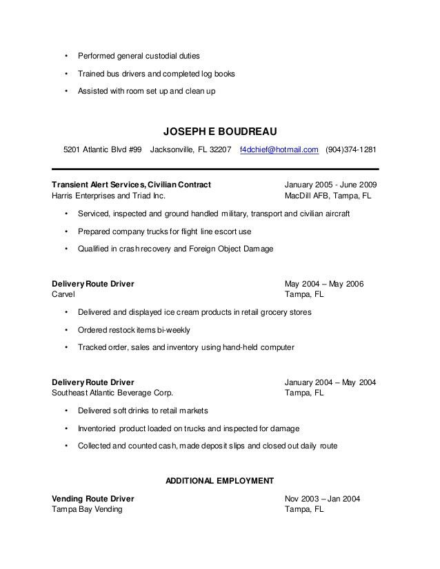Aircraft Maintenance Resume