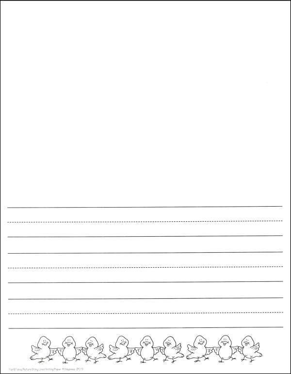 Picture Story Lined Writing Paper (018057) Details - Rainbow ...