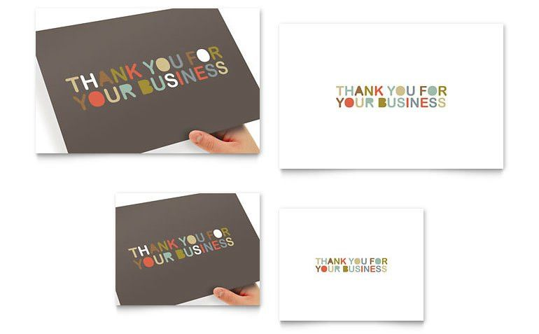 Thank You for Your Business Note Card Template - Word & Publisher