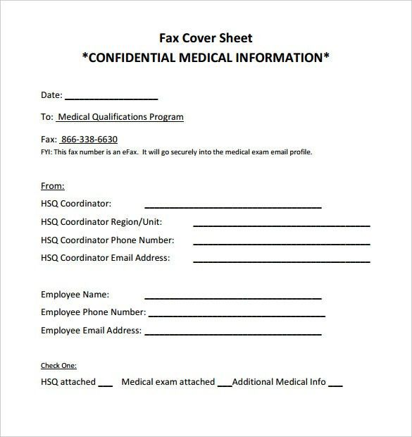 Information Sheet Sample. 10+ Confidential Fax Cover Sheet ...