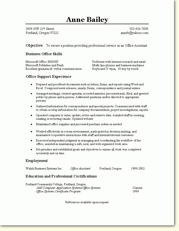 sample resume admin resume cv cover letter office administration ...
