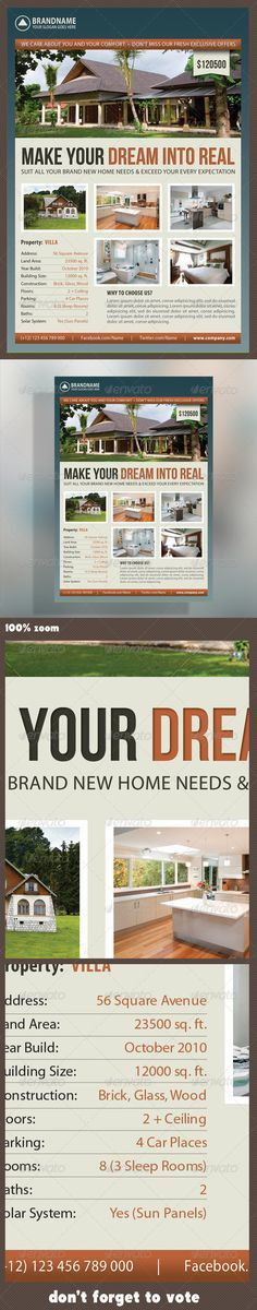 Real Estate Agent and Realtor Flyer and Ad Design Template by ...
