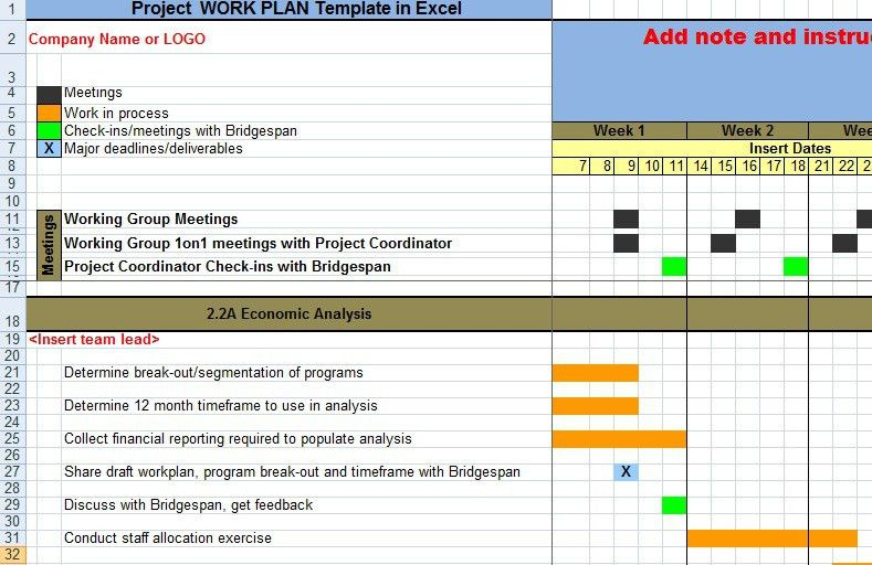 Work Plan Template. business project work plan and schedule ...