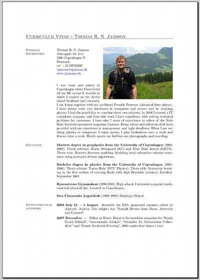 Writing a CV in LaTeX | tjansson.dk