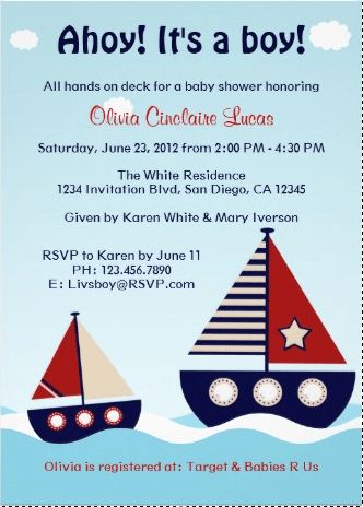 Free Nautical Baby Shower Invitation Templates | THERUNTIME.COM