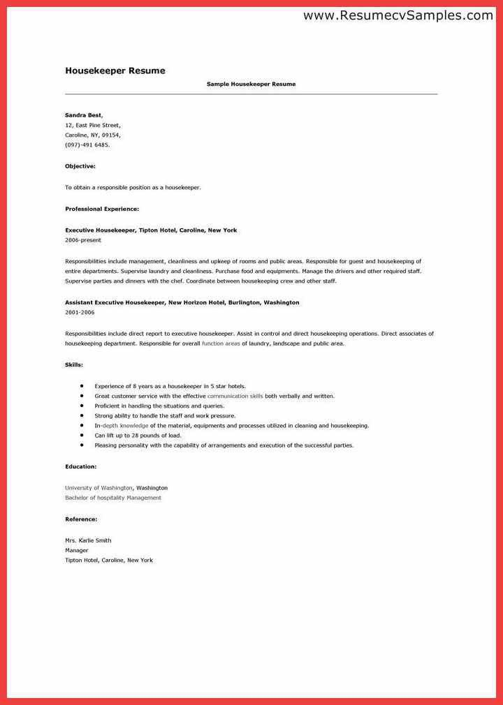 hospital housekeeping resume sample unforgettable housekeeper