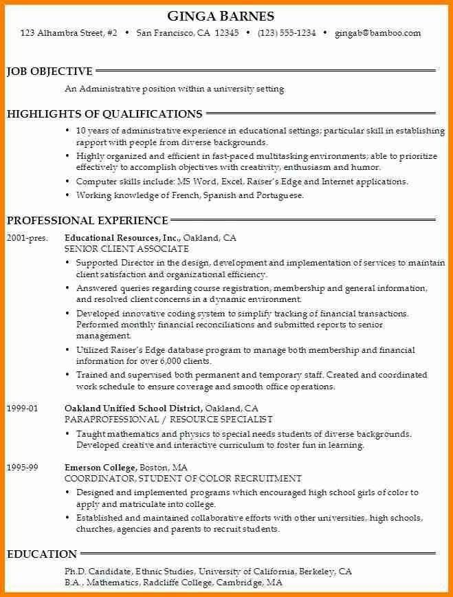 College Application Resume Objective - Best Resume Collection