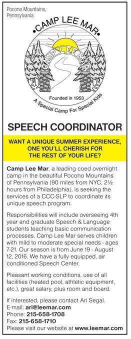 Speech Coordinator job in Pocono Mountains Pennsylvania ...