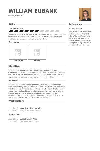 Installer Resume samples - VisualCV resume samples database