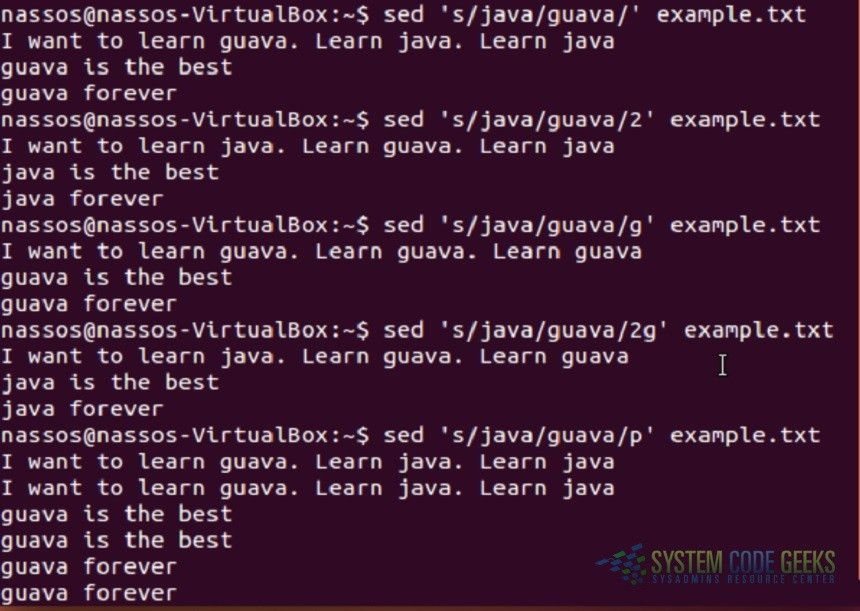 Linux sed Examples | System Code Geeks - 2017