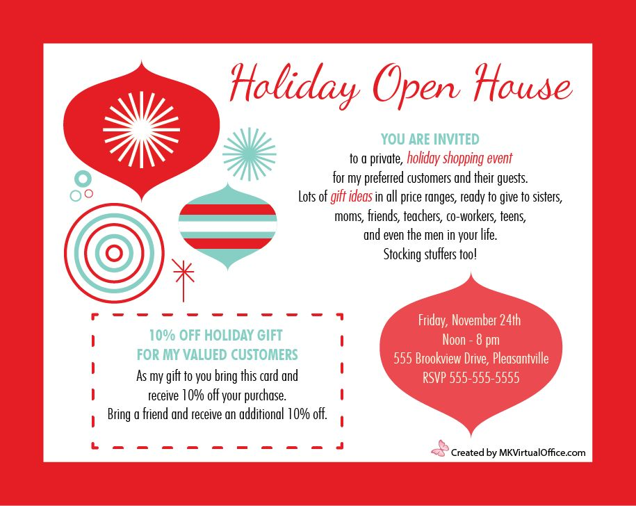 Holiday Open House 2014 - MK Virtual Office