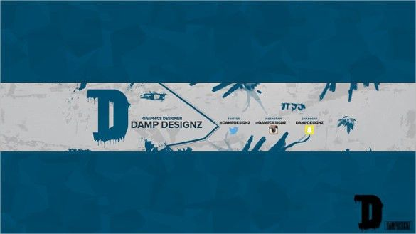 Simple Youtube Banner Template – 19+ Free PSD, AI, Vector EPS ...