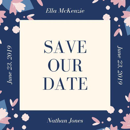 Save The Date Invitation Templates - Canva