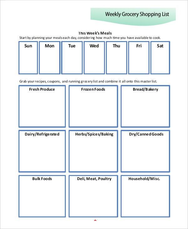 10+ Printable Shopping List Templates - Free Samples, Examples ...