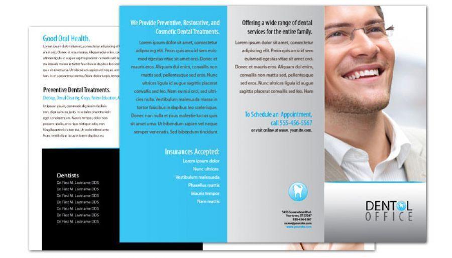 Flyer template for Dentist Dental Office. Order Custom Flyer design