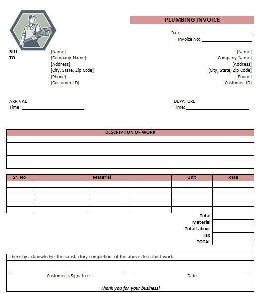 15 best Free Plumbing Invoice Templates images on Pinterest ...