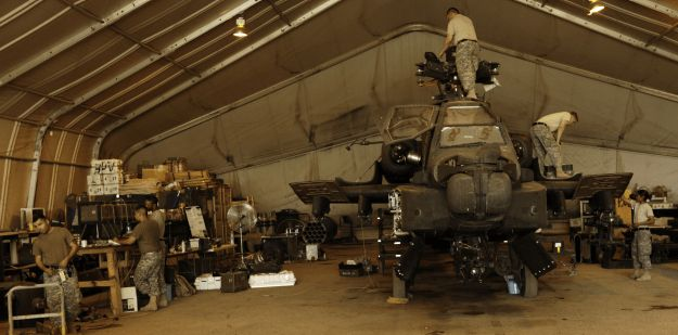 The AH-64 attack helicopter repairer is primarily responsible for ...